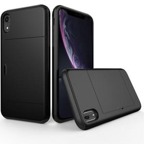 Shockproof Rugged Armor Protective Case for  iPhone XR , with Card Slot(Black)