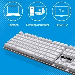 ZGB Q17 104 Keys USB Wired Suspension Gaming Office Keyboard for Laptop, PC(White)