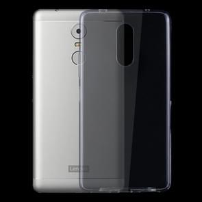 Voor Lenovo K6 Note 0.75mm ultra-dun Transparant TPU beschermings hoesje (transparant)