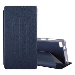 Lenovo TB-7504F / TB-7504N / TB-7504X Silk structuur horizontaal Flip beschermings hoesje met houder (Navy blauw)