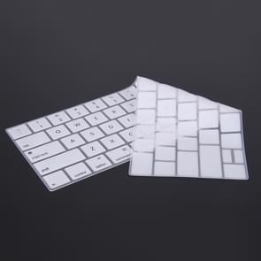 siliconen toetsenbord beschermings voor MacBook Pro 13.3 inch met Touch Bar (2016) / A1706 & A1708, US versiewit