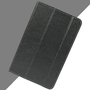 Teclast T10 Steel Wire Texture Horizontal Flip Leather Case with Three-folding Holder & Sleep / Wake up Function(Black)