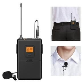 FIFINE K037 U Segment Selectable 20-channel Wireless Lavalier Microphone for Live Broadcast, Show, KTV, etc , Compatible with Notebook, PC, Speaker, Headphone, iPad, iPhone, Galaxy, Huawei, Xiaomi, LG, HTC and Other Smart Phones