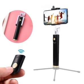 K08 Portable Foldable Wireless Bluetooth Shutter Remote Selfie Stick Tripod for iPhone and Android Phones(Tripod is not Included)(Black)