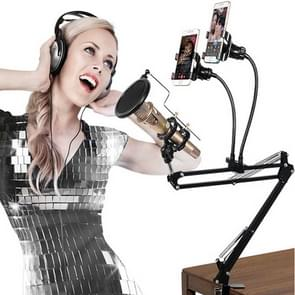 Dual Mobile Phone K Song Bracket 360 Degree Direction Cantilever Multifunctional Lazy Microphone Live Broadcast Bracket