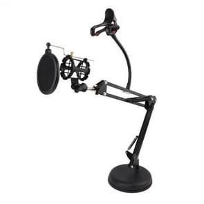 360 Degree Rotating Universal Cantilever Mobile Phone Microphone Disc Holder with Anti-spray Net
