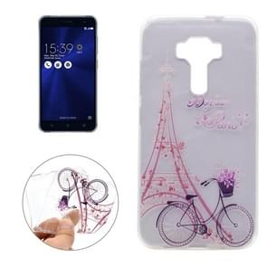 For Asus ZenFone 3 / ZE520KL Tower Bicyle Pattern Transparent Soft TPU Protective Back Cover Case