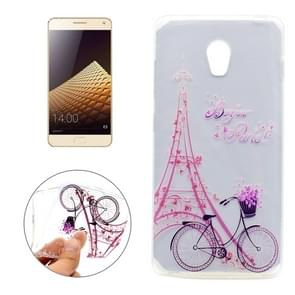 For Lenovo VIBE P1 Tower Bicyle Pattern Transparent Soft TPU Protective Back Cover Case