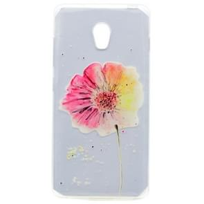 For Lenovo VIBE P1 Flower Pattern Transparent Soft TPU Protective Back Cover Case