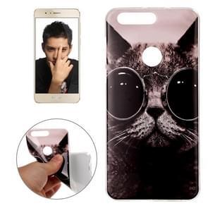 Huawei Honor 8 IMD Cool Cat Pattern Soft TPU Back Cover Case