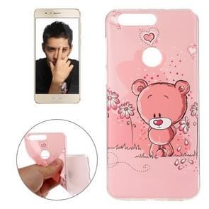 Huawei Honor 8 IMD Bear Pattern Soft TPU Back Cover Case