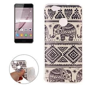 Huawei nova IMD Elephants Pattern Soft TPU Back Cover Case