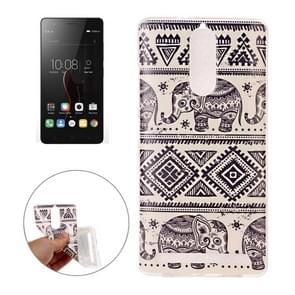 Lenovo Vibe K5 Note IMD Elephants Pattern Soft TPU Back Case