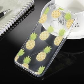 For Google Pixel Pineapple Pattern Transparent Soft TPU Protective Back Cover Case