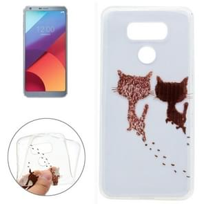 For LG G6 Two Cats Pattern Soft TPU Protective Case