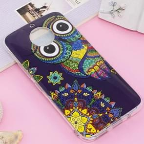 For Motorola Moto G5S Noctilucent IMD Owl Pattern Soft TPU Back Case Protector Cover
