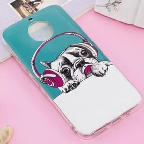 For Motorola Moto G5S Noctilucent IMD Dog Pattern Soft TPU Back Case Protector Cover