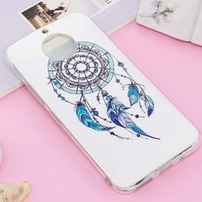 For Motorola Moto G5S Plus Noctilucent IMD Feather Dream Catcher Pattern Soft TPU Back Case Protector Cover
