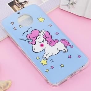 For Motorola Moto G5S Plus Noctilucent IMD Horse Pattern Soft TPU Back Case Protector Cover