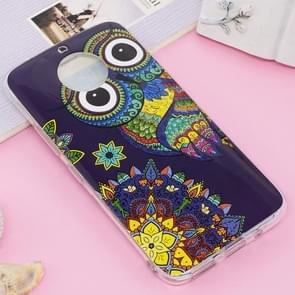 For Motorola Moto G5S Plus Noctilucent IMD Owl Pattern Soft TPU Back Case Protector Cover