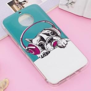 For Motorola Moto G5S Plus Noctilucent IMD Dog Pattern Soft TPU Back Case Protector Cover