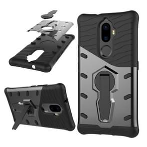 Lenovo K8 Plus PC + TPU Dropproof Sniper Hybrid Protective Back Cover Case with 360 Degree Rotation Holder (Black)