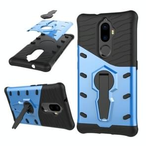Lenovo K8 Plus PC + TPU Dropproof Sniper Hybrid Protective Back Cover Case with 360 Degree Rotation Holder (Blue)