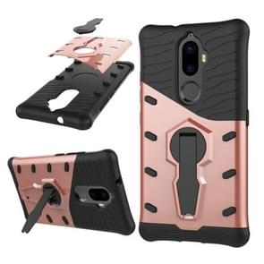Lenovo K8 Plus PC + TPU Dropproof Sniper Hybrid Protective Back Cover Case with 360 Degree Rotation Holder (Rose Gold)
