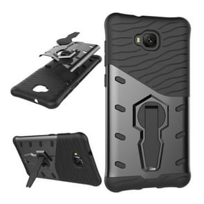 For Asus Zenfone 4 Selfie (ZD553KL) PC + TPU Dropproof Sniper Hybrid Protective Back Cover Case with 360 Degree Rotation Holder (Black)