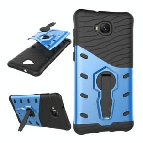 For Asus Zenfone 4 Selfie (ZD553KL) PC + TPU Dropproof Sniper Hybrid Protective Back Cover Case with 360 Degree Rotation Holder (Blue)