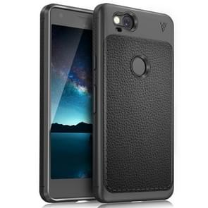 Lenuo for Google Pixel 2 Litchi Texture Full Coverage PU Leather + TPU Protective Back Cover Case(Black)