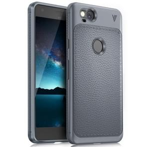 Lenuo for Google Pixel 2 Litchi Texture Full Coverage PU Leather + TPU Protective Back Cover Case(Grey)