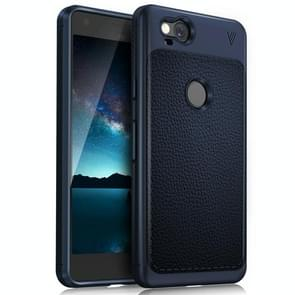 Lenuo for Google Pixel 2 Litchi Texture Full Coverage PU Leather + TPU Protective Back Cover Case(Navy Blue)