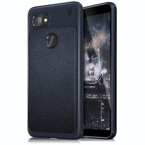 Lenuo for Google Pixel 2 XL Litchi Texture Full Coverage PU Leather + TPU Protective Back Cover Case(Navy Blue)