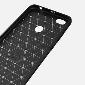 For Xiaomi Redmi Note 5A Brushed Texture Carbon Fiber Shockproof TPU Rugged Armor Protective Case (Grey)