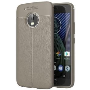 For Motorola Moto G5 Plus Litchi Texture TPU Protective Back Cover Case (Grey)