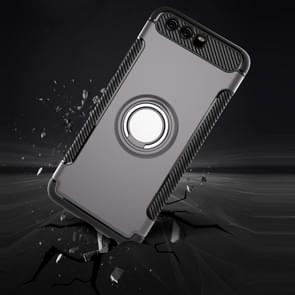 Huawei P10 Plus Magnetic 360 Degree Rotation Ring Armor Protective Case(Silver)