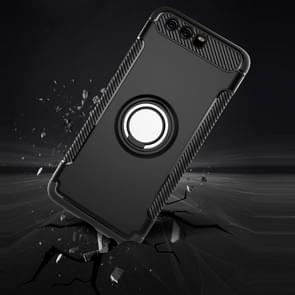Huawei P10 Magnetic 360 Degree Rotation Ring Armor Protective Case(Silver)