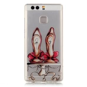 Huawei P9 Red High-heel Shoes Pattern IMD Workmanship Soft TPU Protective Case