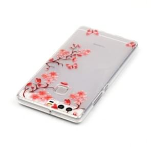 Huawei P9 Maple Leaves Pattern IMD Workmanship Soft TPU Protective Case