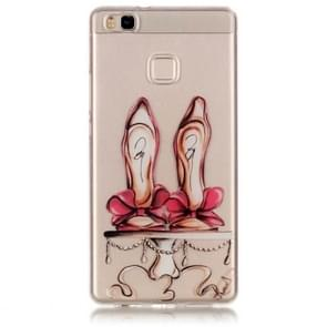 Huawei P9 Lite Red High-heel Shoes Pattern IMD Workmanship Soft TPU Protective Case