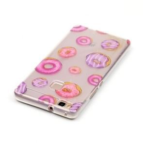 Huawei P9 Lite Novel Cute Doughnut Pattern IMD Workmanship Soft TPU Protective Case