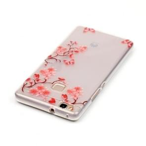 Huawei P9 Lite Maple Leaves Pattern IMD Workmanship Soft TPU Protective Case