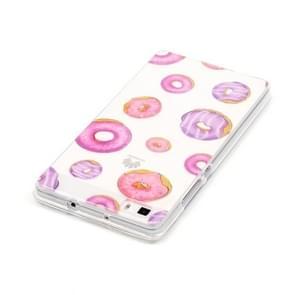 Huawei P8 Lite Novel Cute Doughnut Pattern IMD Workmanship Soft TPU Protective Case