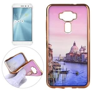 For Asus ZenFone 3 / ZE520KL Watercourse Pattern Electroplating Frame Soft TPU Protective Case