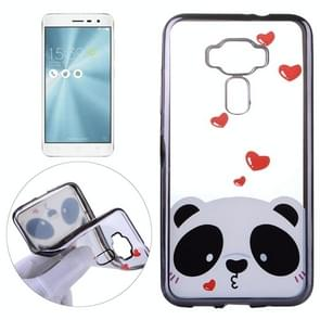 For Asus ZenFone 3 / ZE520KL Love Bear Pattern Electroplating Frame Soft TPU Protective Case