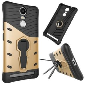 For Lenovo K5 Note Shock-Resistant 360 Degree Spin Tough Armor TPU+PC Combination Case with Holder(Gold)