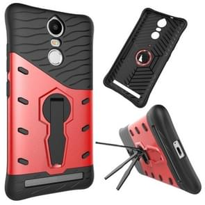 For Lenovo K5 Note Shock-Resistant 360 Degree Spin Tough Armor TPU+PC Combination Case with Holder(Red)