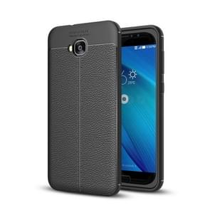 For Asus Zenfone 4 Selfie (ZD553KL) Litchi Texture Soft TPU Anti-skip Protective Cover Back Case(Black)