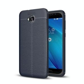 For Asus Zenfone 4 Selfie (ZD553KL) Litchi Texture Soft TPU Anti-skip Protective Cover Back Case(navy)